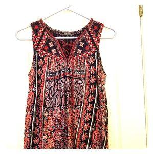 NWOT Lucky Brand sleeveless cotton boho top